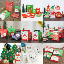 5-50X New Christmas Animal Party Paper Favour Gift Sweet Lunch Carrier Boxes