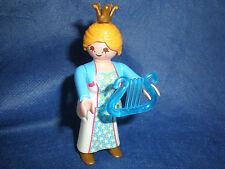 Playmobil Traumschloß Prinzessin mit blauer Harfe Krone unbespielt top