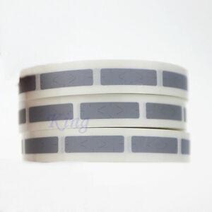 1000PCS Scratch Off Sticker 6mm x 22mm Label Sticker rectangle Silver Blank