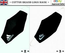 Brand Black Cotton Face Mask Fashion Logo Designer Fashion Reusable Washable
