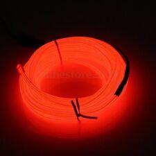 1/2/3/4/5M Led Flexible EL Wire Neon Glow Light + 3V/12V Controller Party Decor