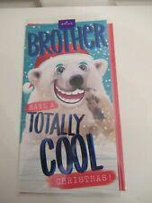 Luxury Hallmark Christmas Card, to brother, polar bear, Have a cool Christmas