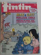 JOURNAL TINTIN N°680 MAX ET CATI Périlleuse cavale ARIA LES CASSEURS 1988