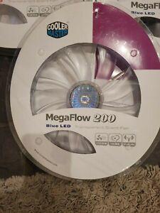 Cooler Master Megaflow 200mm BLUE LED Transparent Silent Fan - 110CFM