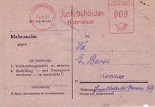 BRD AFS  Brief : Justizbehörden Hannover 14.04.1951