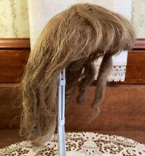 Authentic Old Antique Human Hair Wig for Large German or French Bisque Head Doll