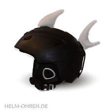 Helmohren Hai Flosse Weiß Fisch Helmöhrchen Ohren f.Helm/ Skihelm/Snowboardhelm