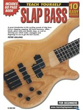 10 Easy Lessons Slap Bass Teach Yourself Guitar Beginner Booklet & DVD S60