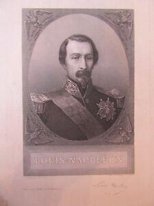 Engraving 19 20th Louis Napoleon