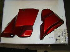Harley Touring FL FLH FLT 1990 FLHS side covers oil bag cover Red EPS15355