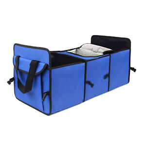 Car Boot Organiser Shopping Tidy Durable Collapsible 2-in-1 Foldable Storage