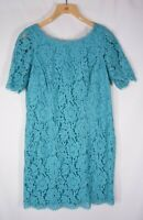 BODEN Lace Dress Womens US Size 10R teal NEW Sheath