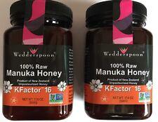Wedderspoon Manuka Honey Active 16+ 100% Raw Premium 17.6 Oz X 2! Exp Dec 2019