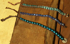 Bracelet 3 pk ~ #B10 ~ Translucent & Iridescent Trio ~ Purple, Teal, Metallic