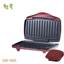 [ONECOOK]Electric Non-Stick Griddle Panini Waffle Maker SW-50A Press Grill