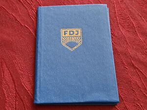 FDJ Mitgliedsbuch Ausweis NEU leer unbenutzt DDR GDR VEB Pioniere Blauhemd