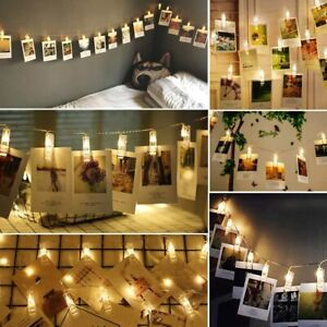 12 LED Large Photo Clip String Light (Warm White) - Battery Operated