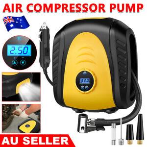 Digital Car Tyre Inflator Pump 12V Air Compressor 4WD Truck Bike W/ LED Portable