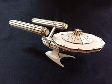 Laser Cut Wooden Starship Enterprise 3D Model/Puzzle Kit