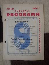 Programm Stahl Brandenburg Lok Stendal 1976 DDR Oberliga Lokomotive Hölzchen