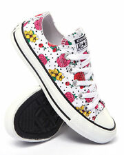 Converse Ox Floral Womens Trainers Shoes Flowers Polka Dot White Pink Red Size 4
