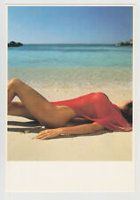 Postcard Nude Sexy Beach Girl Topless Breast Sandy Butt Vintage Post Card 5601
