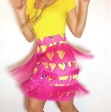 Versace for H&M  Pink Heart Fringe Mini Skirt ~Sz 6