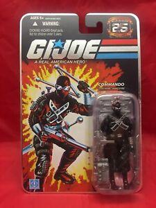 GI Joe Snake Eyes Commando Version 3 RAH 25th Anniversary MOC Foil Logo 3 34 in