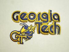 Lot of 2 Georgia Tech Yellow Jackets School Mascot Bold Text Iron On Patches #1