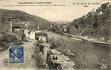 43 VILLENEUVE SAINT-ILPIZE CARTE POSTALE PONT SUR L' ALLIER 1922