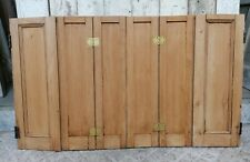 More details for a pair of reclaimed stripped pine waxed window shutters - 6 leaves- ref cs0053