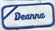 Deanna name tag patch 1-5/8 X 3-5/8