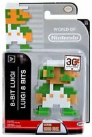 World of Nintendo Super Mario Bros. 8-Bit Luigi Jakks Pacific Action Figure