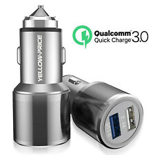 Premium Dual Port USB Car Charger Supports 5V 2.4A Faster Speed For iPhone iPad