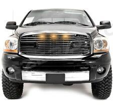 Big Horn+LED Black Packaged Grille+Chrome Shell for 06-08 Dodge Ram 1500+2500+35