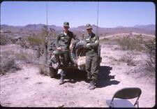 612F Original Slide American Soldiers Uniform Army Men Pose Together w/ Jeep '64