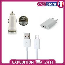 CÂBLE MICRO USB CHARGEUR SECTEUR / VOITURE POUR SAMSUNG GALAXY S5 S6 S7 Edge