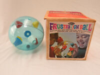 "Vintage Remco ""Frustration Ball"" Puzzle Challenge Toy w/ Original Box Style 841"