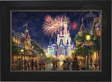 Thomas Kinkade Studios Main Street USA 28 x 42 LE S/N Canvas Framed Disney World
