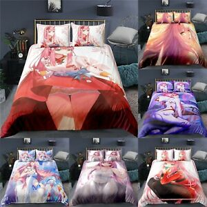 Darling In The Franxx Duvet Cover with Pillowcases Bedding Set UK Size