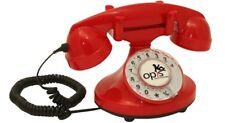 Telefono fijo retro con disco de marcar timbre electrónico moderno década 1920