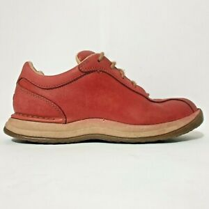 Rockport Shoes Sz US 7 EU 37.5 Red Leather Sneakers Comfort Walking Laces Womens