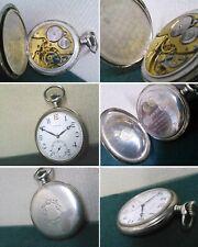 Orologio tasca ZENITH ARGENTO carica manuale Watch Uhren Reloj Montres