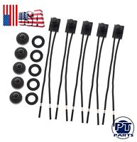 "5pcs 12V 4"" Wire Leads Waterproof On-Off Push-Button Switch For Motorcycle Car"