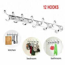 12 hooked on 6 under 6 Key Holder Rack Organizer Chain Hanger Easy Wall Mount