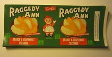 Wholesale Lot of 50 Old Vintage - RAGGEDY ANN - Fruit CAN LABELS - DOLL