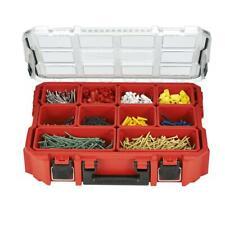 Milwaukee Portable Tool Box Storage Organization Bins 10 Compartment Red
