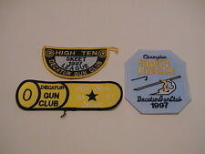 LOT /3 DECATUR ILLINOIS GUN CLUB 1997 SKEET TRAP SHOOTING CLAY PIGEON PATCHES