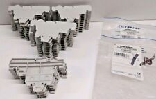 LOT OF (35) NEW OLD STOCK ENTRELEC TERMINAL BLOCK GRAY END SECTIONS FED2AD2
