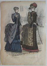 Planche 20 Tirée du Livre Paris Charmant 1882 Mode Toilette élégante d'intérieur